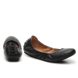 Echo ballet flat black leather size.6M lucky brand